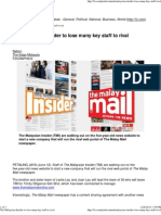The Malaysian Insider to Lose Many Key Staff to Rival