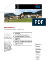 Lantsch/Lenz GR, Ortsplanungsrevision durch die HMQ AG