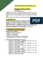 Programa Intervencion Fonema