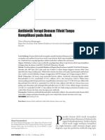 Antibiotik demam tifoid pada anak