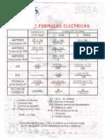 Curso Tabla de Formulas Electricas