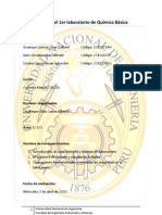 Informe del 1er laboratorio de Química Básicafinish