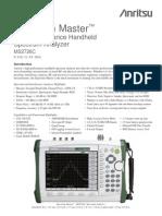 Anritsu - Data Sheet Spectrum Master MS2726C 9 kHz - 43 GHz [11410-00527D]