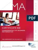 49543880 CIMA Certificate Paper C3 Fundamentals of Business Mathematics Practice Revision
