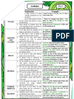Articles (Useful Grammar Guide and Practice)