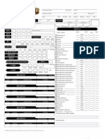 Editable Pathfinder Character Sheet