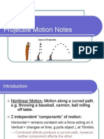PROJECTILE MOTION NOTES