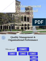 Quality Management Subject