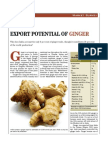 Ginger MARKET ANALYSIS