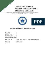 Hospital Training Lab