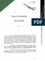 Livres d'Artistes Centre Pompidou 1985