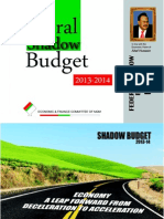 Shadow Budget for the financial year 2013-2014 by MQM