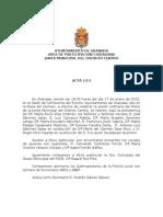 Acta Junta Municipal de Distrito Centro enero 2013