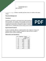 Lab Report No 1
