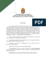 Acta Junta Municipal Distrito Centro Abril 2013