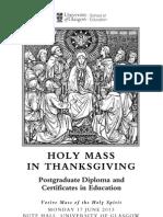 Holy Mass Pgde 2013