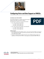 Configuring Voice and Data on 1-Port and 2-Port T1 - E1 VWIC3