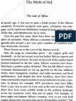 Myth of Aid the State of Africa
