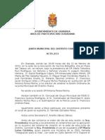 Acta Junta Municipal Distrito Chana febrero 2013