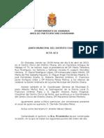 Acta Junta Municipal Distrito Chana abril 2013
