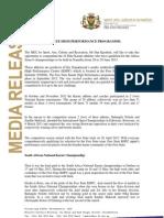 Media Release Karate High Performance Programme