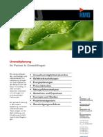 Broschüre Umweltplanung HMQ AG