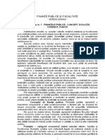 Finante Publice Si Fiscalitate - Sinteza