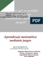 Aprendizaje Matemtico Mediante Juegos 7242