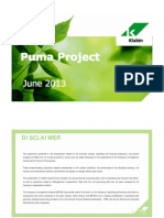 Project Puma Presentation