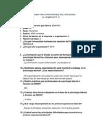 Cuestionario Para El Profesional de La Psicologia Que Labora en La Empresa Privada