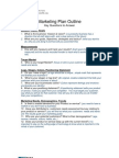 003 Marketing Plan Outline
