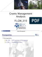 Grants Management Analysis