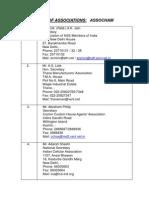 List Sectoral Associations