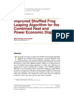 Improved Shuffled Frog Leaping Algorithm for the Combined Heat and Power Economic Dispatch.