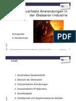 Feuerfeste Anwendungen in der Giesserei-Industrie