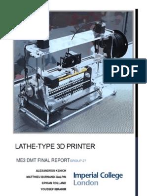 Lathe-Type 3D Printer | 3 D Printing | Technology