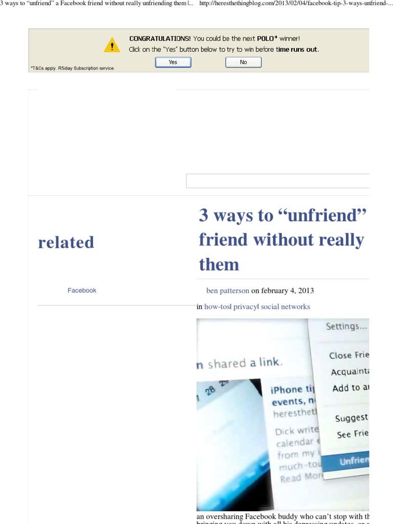 Watch Unfriend, Indeed video