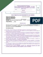 1. Modulo de Formacion Fundamentos de Admon y Actividades a Entregar- Para Etdea