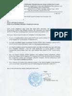 Surat Kepala Badan Tentang Padamu Negeri