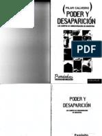 Calverio Pilar - Poder y Desaparición