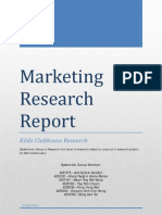 Marketing Research Report Final