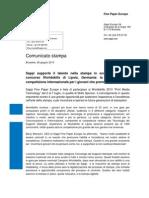 Sappi Press Release - WorldSkills Leipzig 2013 Sponsorship - Italian version