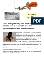 Casal de Cajazeiras posta fotos em site pornô fazendo sexo e população descobre
