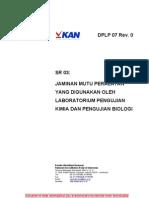 DPLP 07 Jaminan Mutu Peralatan Yang Digunakan Lab Uji Biologi Dan Kimia