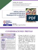 Niños, niñas y adolescentes que trabajan en la región Callao (Presentación)