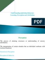 2 & 5- Perception & Learning