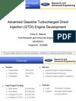 Advanced Gasoline Turbocharged Direct Injection (GTDI) Engine Development