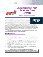 Management Plan for Home Food Storage
