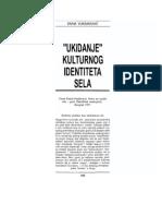 Divna Vuksanović_Ukidanje kulturnog identiteta sela