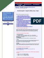 DB Export Import Doc